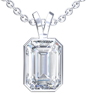 The Clear Crystal of Emerald Cut