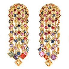 multi colored sapphire earrings