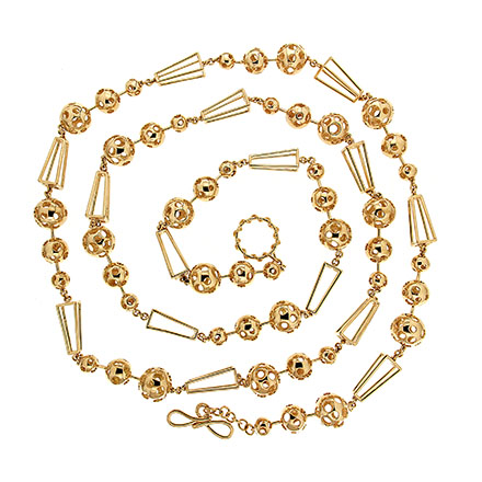 Gold celestial chain necklace