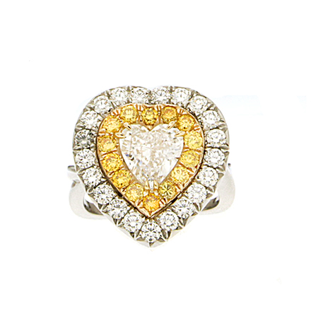 How Yellow Appears in Diamond Rings