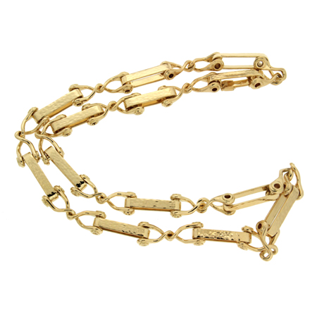 Cleat textured Gold Necklace
