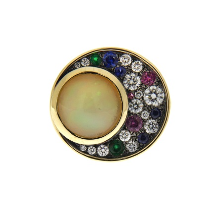 Cabochon opal rings as engagement rings