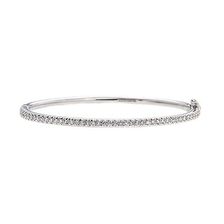 Narrow Line Diamond Bracelet