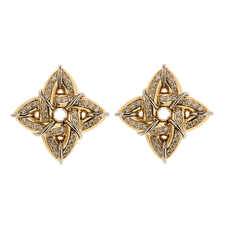 Gothic Gold and Diamond Earrings