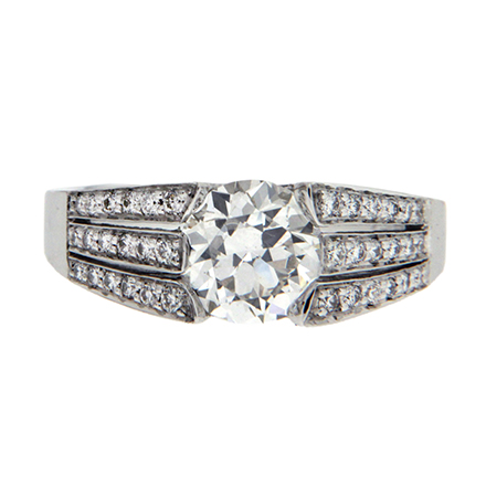 Complex Band Designs for Solitaire Rings