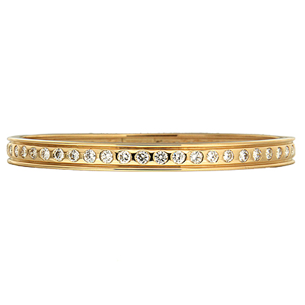 Burnished Diamond Bangle