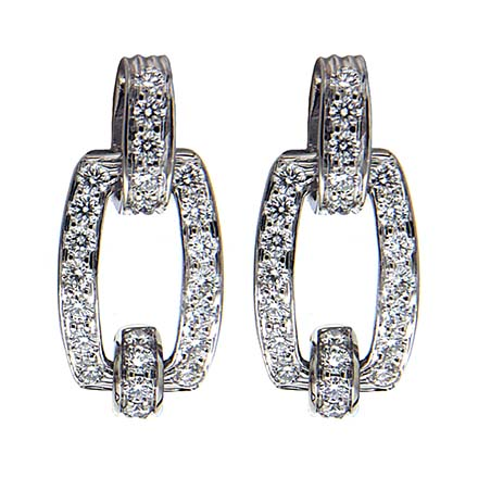 Diamond Link Earrings