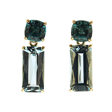 Tourmaline and Aquamarine Earrings