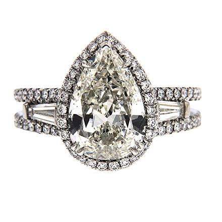 Pear Shape Diamond Engagement Ring