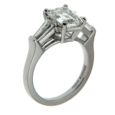 Emerald Cut and Tapered Baguette Ring