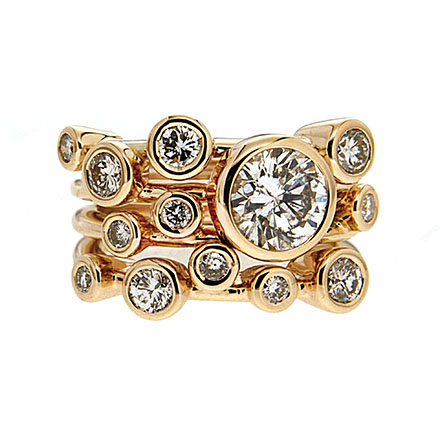 Multi Band Bezel Diamond Ring