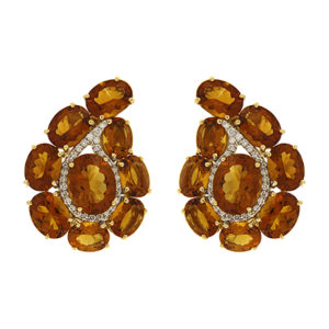 Paisley Madeira Citrine Earrings