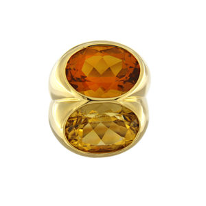 Citrine Double Oval Ring