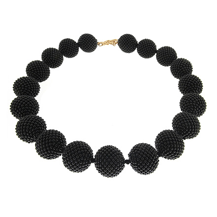 Onyx Woven Ball Necklace