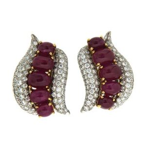 Swirl Ruby Earrings