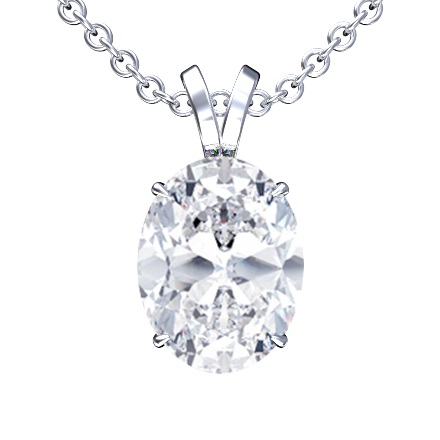 Oval Shape Diamond Pendant