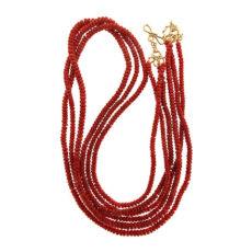 Coral Roundels Strand Necklace