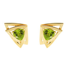 Peridot Trillion Earring