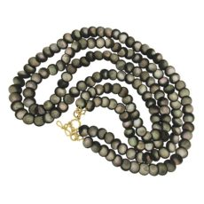 Round Black Mother of Pearl Necklace